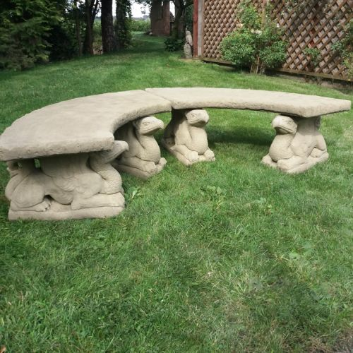 Large Griffin Semi-Circle Seat / Pair of Benches