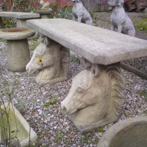 Large Horse Head Bench