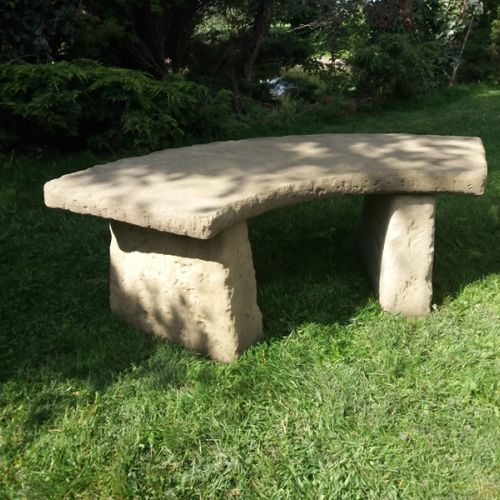Large Rustic Curved Bench